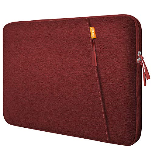 "JETech Laptop Sleeve Compatible for 13.3-Inch Notebook Tablet iPad Tab, Compatible with 13"" MacBook Pro and MacBook Air,Waterproof Shock Resistant Bag Case with Accessory Pocket, Red"