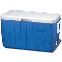 Keeps the Ice: 3-day ice retention at temperatures up to 90 °F Holds 63 cans; Added height to hold 2-liter bottles upright to help prevent spills Leak-resistant drain lets you remove water without turning the cooler upside down Hinged lid for easy, o...