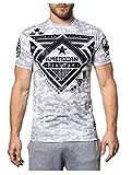 American Fighter Men's Wolf Lake Tee Shirt White 3X-Large