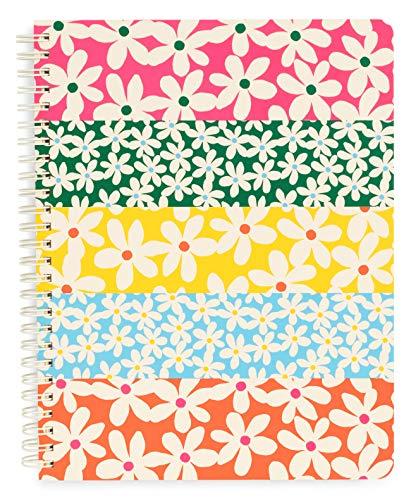 Ban.do Floral Rough Draft Mini-Spiral-Notizbuch, 22,9 x 17,8 cm, mit Taschen und 160 linierten Seiten gänseblümchen