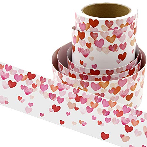 Water Color Heart Bulletin Board Borders for Valentine's Day Classroom Decoration 36ft