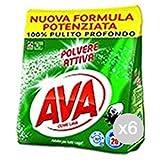 Ava Set 6 Ricarica 20 Misurini Sacco Polvere Detersivo Ltrice E Bucato, Multicolore, Unica