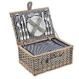 casa.pro] Cesta de pícnic para 4 Personas - Set de pícnic con Nevera, Incluye...