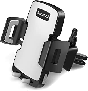 Touhuhot Car Phone Mount Air Vent Cell Phone Holder Compatible with iPhone 11 Pro Max XS Max XR X 8 7 Se 6S 6+ 5 4 Samsung Galaxy S10 S9 S8 S7 S6 S5 Note10 9 Huawei LG Nokia and More