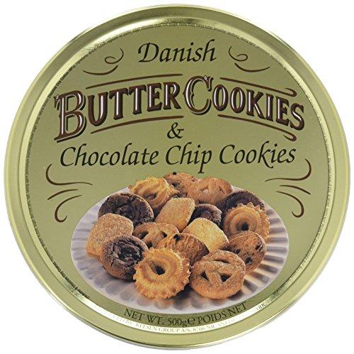 Dänische Butter Cookies und Chocolate Chip Cookies, 500g