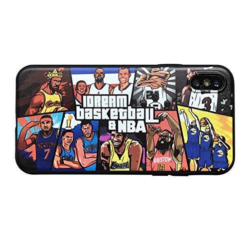 FGHYU Caja del teléfono de la Estrella del Baloncesto, Compatible con el iPhone XR / 11 Pro MAX/XS MAX, el Marco de TPU Suave, la Cubierta del teléfono a Prueba de Golpe 8
