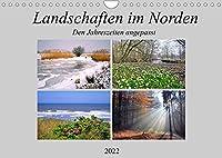 Landschaften im Norden, Den Jahreszeiten angepasst (Wandkalender 2022 DIN A4 quer): Schoene Landschaften waehrend des ganzen Jahres (Monatskalender, 14 Seiten )