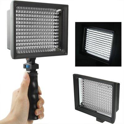 MOBILEACCESSORIES for TL LED-187A 187 Lampada Video a LED for Fotocamera/videocamera e Batteria agli ioni di Litio da 7.4V 4400mAh e con Fogli Morbidi e filtri Gialli (Neri) for Sony NP-F770 luci PH