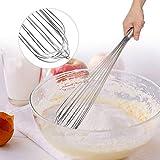 【𝐕𝐞𝐧𝐭𝐚 𝐏𝐫𝐢𝐦𝐚𝒗𝐞𝐫𝐚】 Batidor de huevo, batidora de mano de acero inoxidable, batidora mezcladora de huevo, cocina casera, herramienta de cocina: haga la vida más fácil y sana