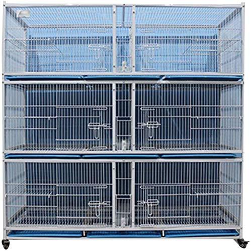 Gabbia per uccelli durevole e rispettosa dell'ambi Gabbia di volo per parrocchetti Gabbie per uccelli per parrocchetti con supporto, gabbie pappagallo per esterni, grande gabbia di piccione in ferro,