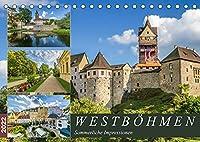 WESTBOeHMEN Sommerliche Impressionen (Tischkalender 2022 DIN A5 quer): Malerische Orte und historische Bauwerke (Monatskalender, 14 Seiten )
