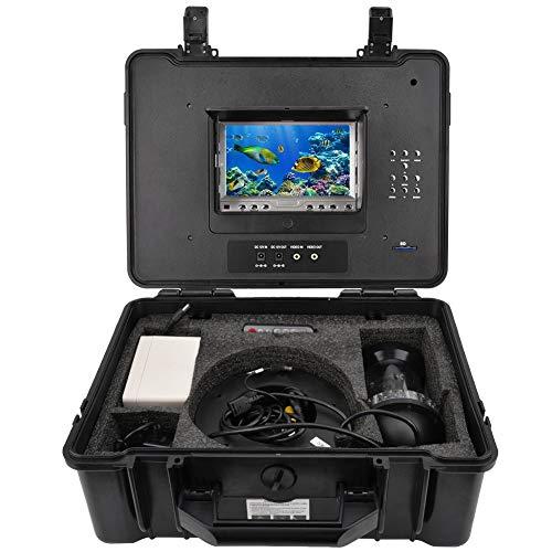 Professionelle Fischfinder 7 Zoll Farbe HD 1000tvl Objektiv wasserdichte 20 mt Kabel 18 Led leuchten Akku Unterwasser Video Kamera DVR Angeln Kamera Monitor Meer(EU)