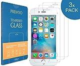 PREMYO 3 Stück Panzerglas Schutzfolie kompatibel mit iPhone 8 - Blasenfrei Transparent Anti-Kratzer 9H Festigkeit