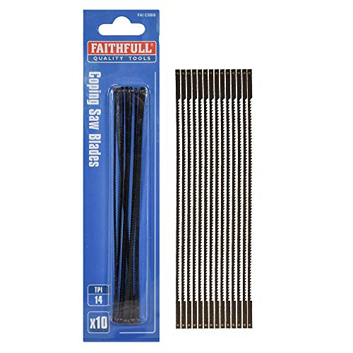 Faithfull Coping Saw Blades (10 Packs of 10 Blades)
