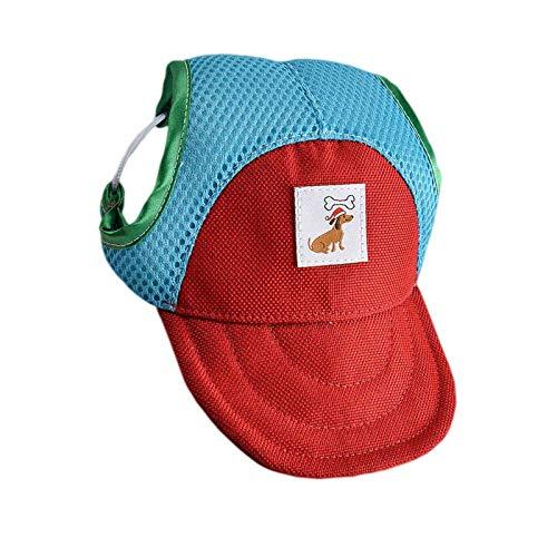 Sombrero de béisbol para perro, gorra de protección solar con agujeros para las orejas
