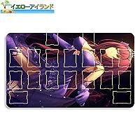 イエローアイランド カードゲームプレイマット 遊戯王 プレイマット Fate Grand Order フェイト グランド オーダー FGO スカサハ(Fate) マウスパッド 収納ケース付き TCG万能 アニメ 萌え カード枠あり (60cm * 35cm * 0.4cm)