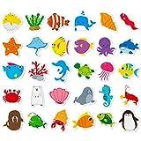 Hebayy 30 Adorable Non-Slip Sea Animal Bathtub Shower Deco Water-Resistance...