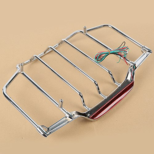 XFMT Air Wing Trunk Luggage Rack W/LED Light For Harley Tour Pack Touring Road King Electra Street Glide 14-20