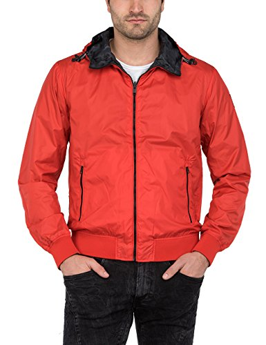 Replay Men's Men's Red Reversible Jacket In Size Xxl Red