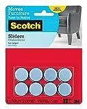 Scotch Self-Stick Sliders, 1', 8-Sliders (SP643)