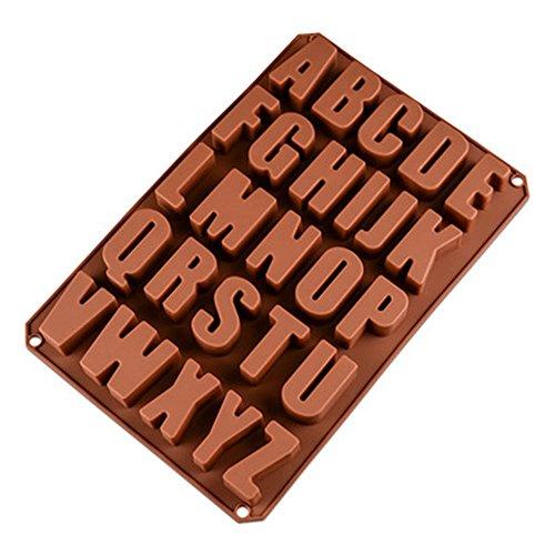 26 Englische Buchstaben Schokolade Silikon Denformen,Seifenform Denformen, Kueche Baking Silikonform,Silikon Molds for DIY Schokolade, Eis Würfel,Cookies, cakes