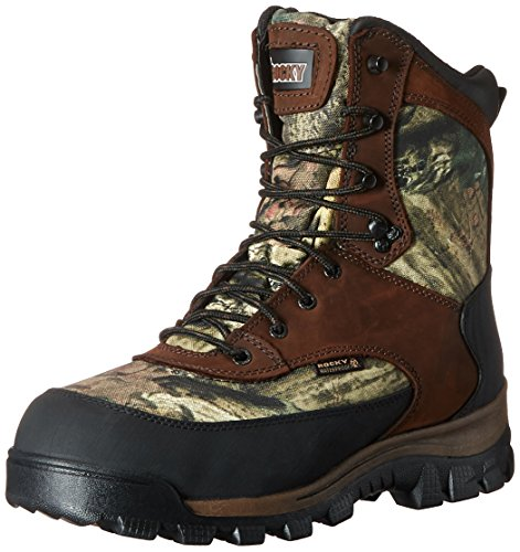 Rocky mens FQ0004755 Mid Calf Boot, Brown and Mossy Oak Break Up Infinity, 8 US