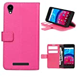 Archos Core 55 4G Wallet Case with 3 Card Slots Pink