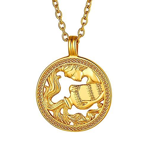 Collar de Acuario bañado en oro