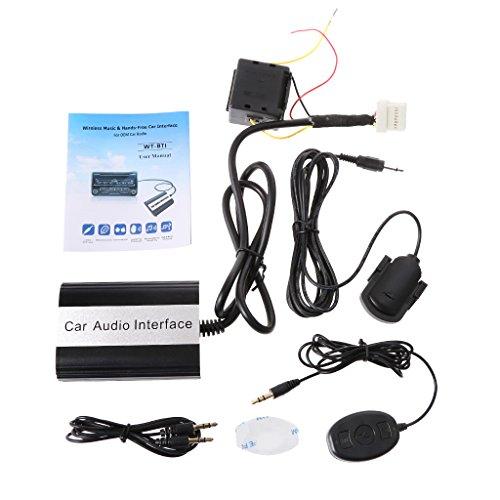 Runrain Kit Bluetooth de voiture MP3 Interface adaptateur auxiliaire pour Toyota Lexus Scion 2003-2011