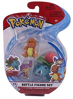 Wicked Pokemon Battle Figure 3 Pack - Ivysaur, Charmander & Aipom de Pokemon