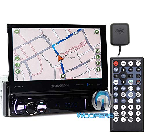 "Soundstream VRN-75HB 7"" Touchscreen 1-DIN w/ DVD, CD/MP3, AM/FM Receiver w/ GPS Navigation & Android PhoneLink"