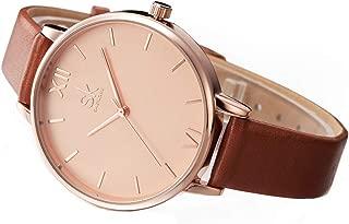 SK Women Watch Wrist Watches for Women,Japanese Quartz Wrist Watch, Ladies Business Watch, Leather Band Watch