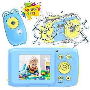 Cámara para Niños, Camara de Fotos para Niños HD 1080P Camara Fotos Infantil Camara Acuatica Niños de 10 Pies, Cámara Recargable para Niños Festival Regalos de Cumpleaños para Niños