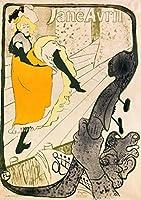 ポスター ロートレック 『ジャンヌ・アヴリル』 A3サイズ【返金保証有 日本製 上質】 [インテリア 壁紙用] 絵画 アート 壁紙ポスター