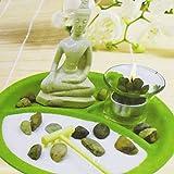 Kamaca Set Decorativo Zen Garden su Vassoio con Statua di Buddha Seduto con Decorazione e ...