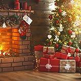 EKKONG 100 Stück Holz Christbaumschmuck, Weihnachtsbaum Deko,Weihnachtsanhänger,Weihnachtsbaumschmuck,Weihnachtsanhänger Deko, Christbaumschmuck Handwerkliche Verzierungen für Weihnachten - 3