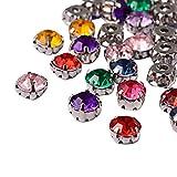 NBEADS 100 pcs Nine-Holes acrílico Rhinestone Montee Cuentas con latón Resultados para fabricación de joyería, Mixed Color