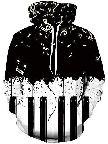 Mandarin Duck Rave on Friday Unisex 3D Hoodie Sweatshirt Printed Hoody Drawstring Pullover with Pocket Keyboard XL