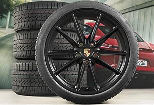 Compatible con Porsche 911 992 20' + 21' Carrera S, set de ruedas de invierno, color negro.