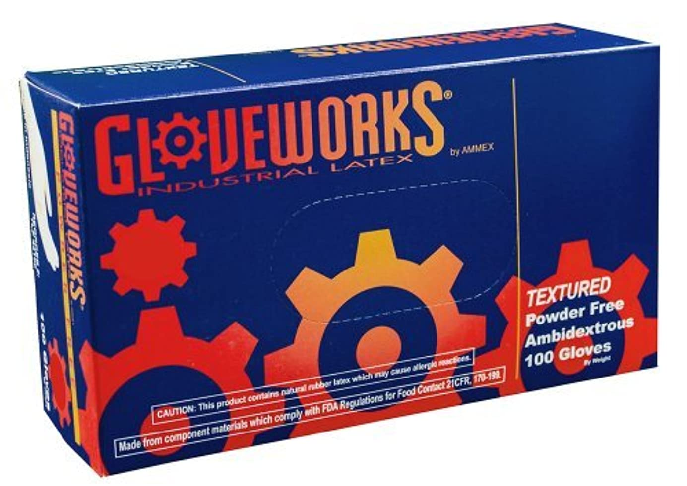 ステンレス気をつけて突然Ammex TLF Gloveworks Latex Glove, Disposable, Powder Free, Medium (Box of 100) [並行輸入品]