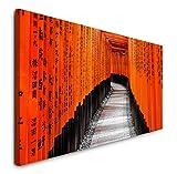 Paul Sinus Art GmbH Kyoto 120x 50cm Panorama Leinwand Bild