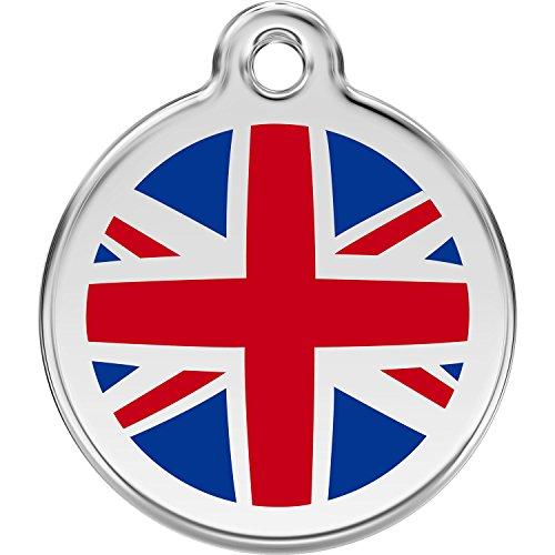 Red Dingo Personalized UK Flag Pet ID Dog Tag (Large)