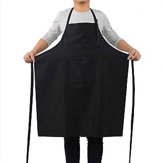 پیش بند آشپزخانه ROTANET - پیش بندهای آشپزی قابل تنظیم برای سرآشپزهای مردانه (سیاه)