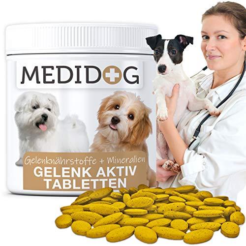 Medidog Gelenk Aktiv Gelenktabletten für Hunde mehr Bewegungsfreude und Mobilität,Teufelskralle, 300 Tabletten á 400mg (120g)