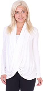 Womens Casual Long Sleeve Criss Cross Fall Cardigan Plus Size Made in USA