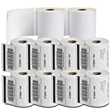 SJPACK - Compatible DYMO 1744907 (4' x 6') Shipping Labels, Strong Permanent Adhesive & Perforated, Compatible with DYMO 4XL, Rollo & Zebra Desktop Printers[10 Rolls/2200 Labels]