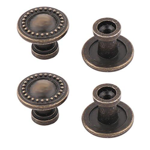 Preisvergleich Produktbild sourcingmap 4 Stk Haushalt Metall Retro Stil Cabinet Schublade Griff Schluck Knopf Bronze Ton