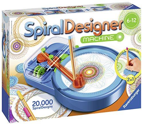Ravensburger Spiral-Designer-Maschine, Zeichnen lernen für Kinder ab 6 Jahren, Kreatives Zeichen-Set für elektronisches oder manuelles Zeichnen