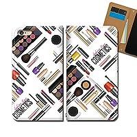 AQUOS zero5G basic DX SHG02 ケース スマホケース 手帳型 ベルトなし メイク 香水 化粧品 リップ ネイル 手帳ケース カバー バンドなし マグネット式 バンドレス EB340040115103
