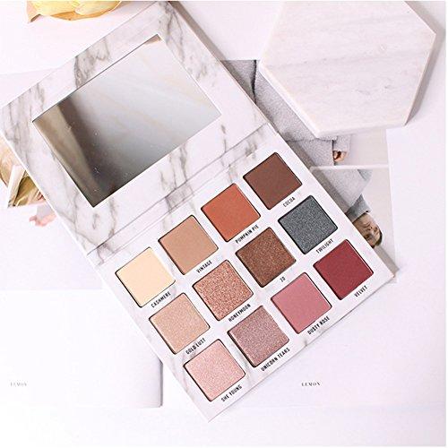Fashionwu 12 Color Cosmetics Gift Fashion Exquisite Marble Eyeshadow Palette